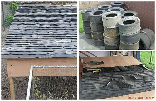 Diy Recycled Tire Shingles