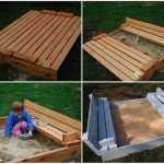 DIY Sandbox with Fold-Out Seats