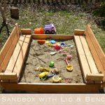 DIY Sandbox with Lid & Benches