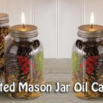 DIY Scented Mason Jar Oil Candles