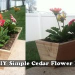 **DIY** Simple Cedar Flower Box