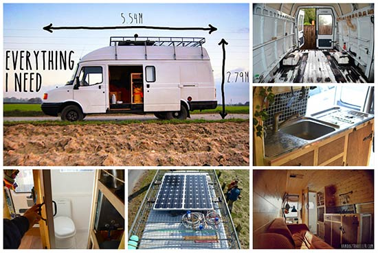 DIY camper: Rusty Van To Cosy Home