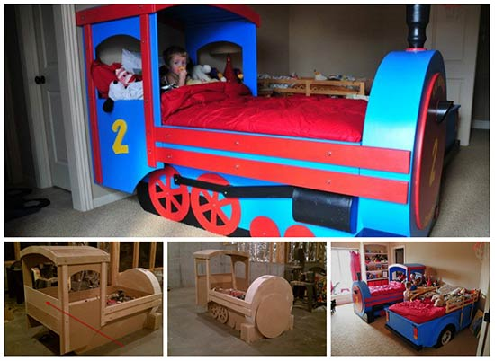 Dad Builds Incredible Train Bed For His Son