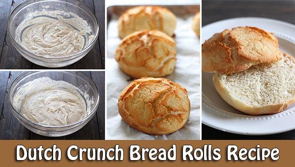 Dutch Crunch Bread Rolls Recipe
