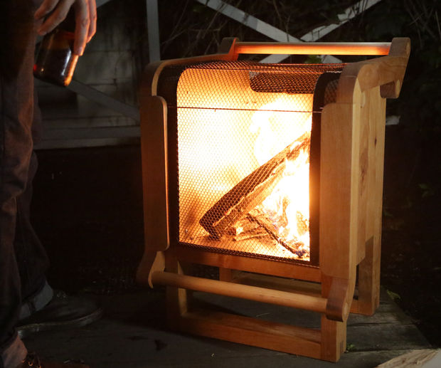 How To Build A Wooden Portable Fire Pit