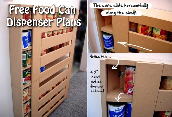 Free Food Can Dispenser Plans