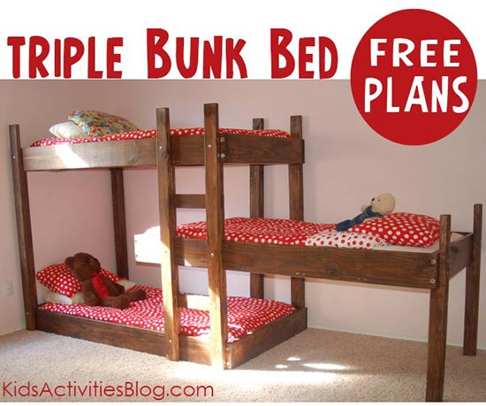 Free Plans For Triple Bunk Beds