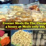 Freezer Meals On The Cheap: 4 hours 46 Meals only $95