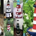 Garden Decorations: DIY Clay Pot Lighthouse