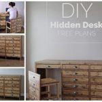 Hidden Desk Apothecary Cabinet