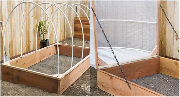 Hinged Covered Greenhouse Garden
