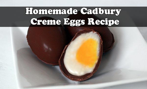 Homemade Cadbury Creme Eggs Recipe