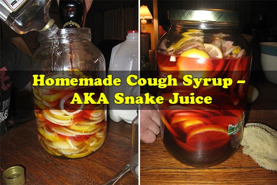 Homemade Cough Syrup – AKA Snake Juice