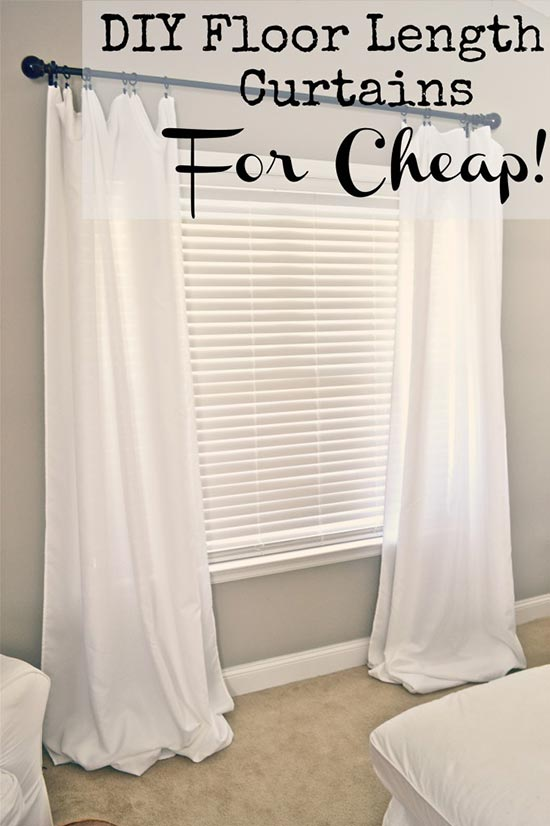 Homemade Floor Length Curtains On A Budget