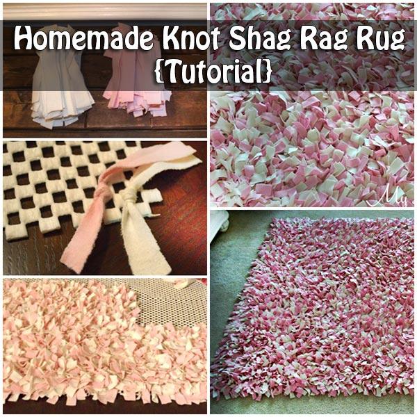 Homemade Knot Shag Rag Rug {Tutorial}