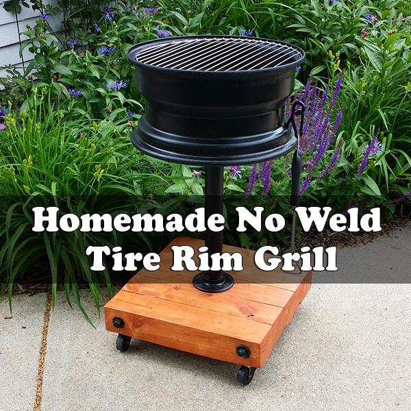 Homemade No Weld Tire Rim Grill