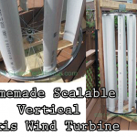 Homemade Scalable Vertical Axis Wind Turbine
