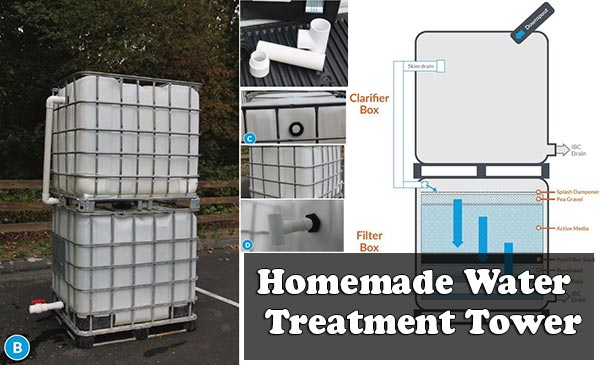 Homemade Water Treatment Tower