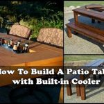 How To Build A Patio Table with Built-in Cooler