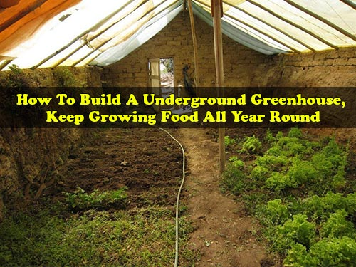 How To Build A Underground Greenhouse, Keep Growing Food All Year Round