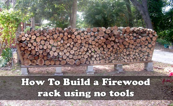 How to build a firewood rack using no tools