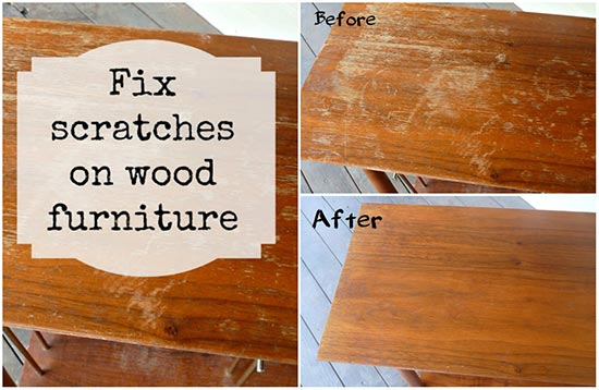 . How To Easily Fix Scratches In Wood Furniture
