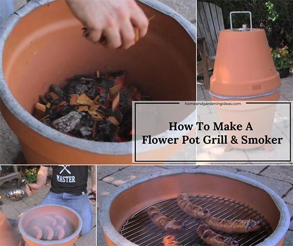 How To Make A Flower Pot Grill and Smoker
