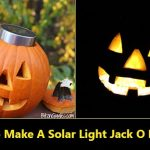 How To Make A Solar Light Jack O Lantern