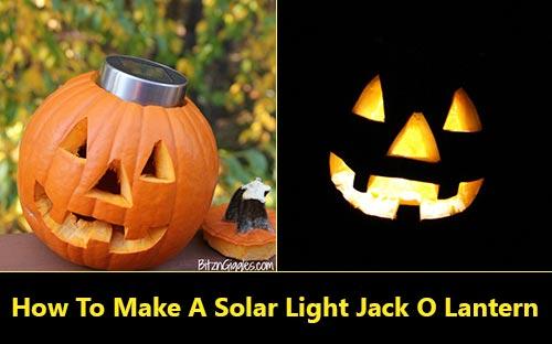 How To Make A Solar Light Jack O Lantern