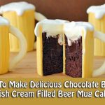 How To Make Delicious Chocolate Baileys Irish Cream Filled Beer Mug Cakes