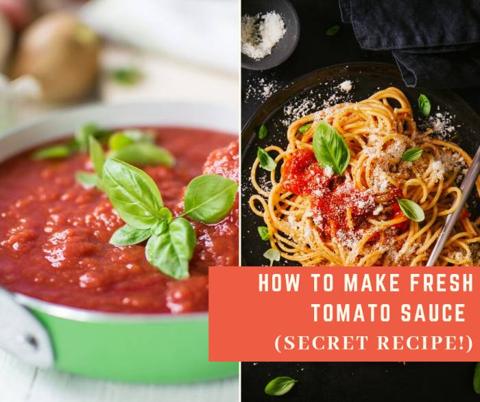 How To Make Fresh Tomato Sauce
