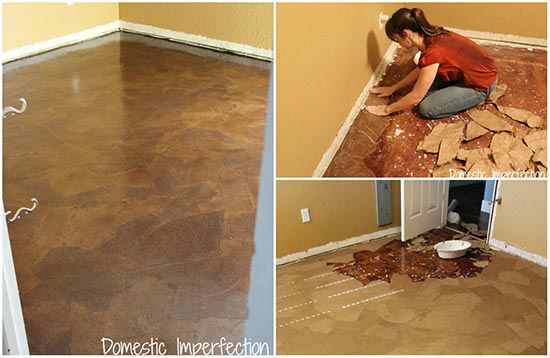 Tutorial: How To Make Gorgeous Paper Bag Floor