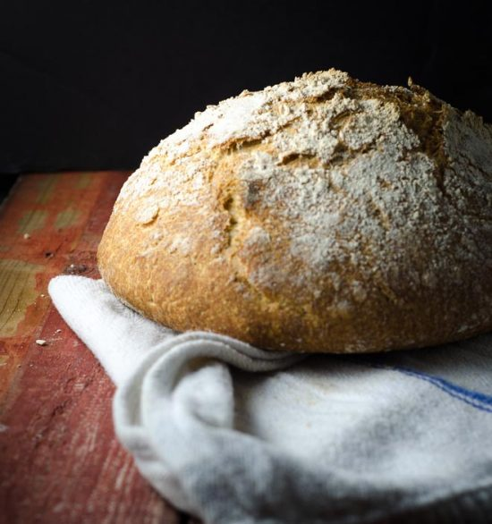 How To Make Whole Grain, No-Knead Sourdough