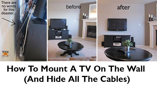 how to mount a tv on the wall and hide all the cables. Black Bedroom Furniture Sets. Home Design Ideas