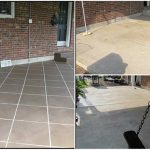 How To Stain Your Concrete Patio To Look Like Tile