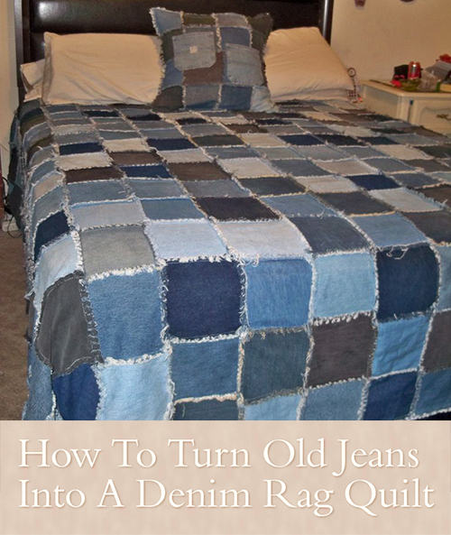 How To Turn Old Jeans Into A Denim Rag Quilt