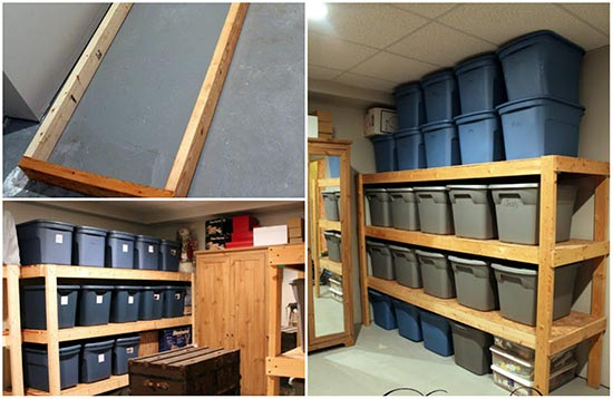 - How To Build Inexpensive Basement Storage Shelves
