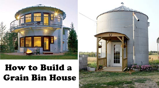 How to build a grain bin home for How to build my house