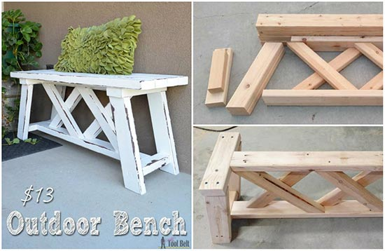Wooden Bench Kit ~ How to build an outdoor bench for