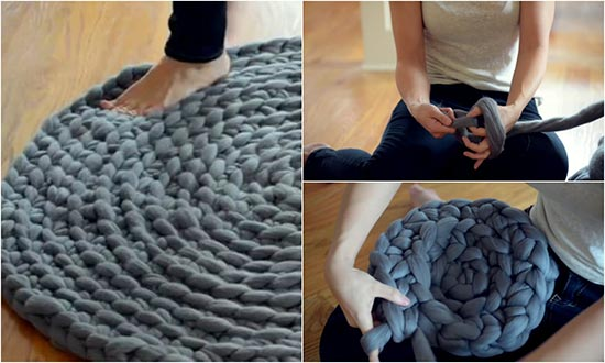 How to Crochet a Giant No-Sew Circular Rug