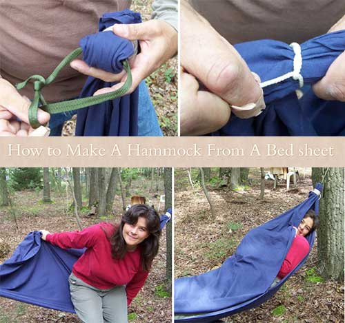 How to make a bed sheet hammock 101