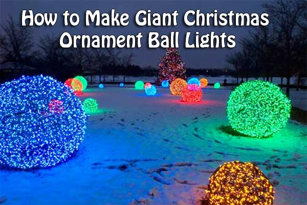Lighted Christmas Ball