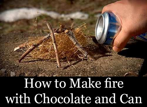 How To Make Fire With Chocolate And A Can