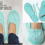 Lightweight Crochet Slippers Pattern with Flip Flop Soles