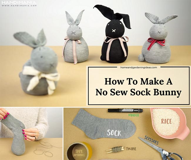 Easter Craft: No-Sew Sock Bunny