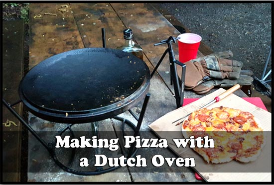Making Pizza with a Dutch Oven