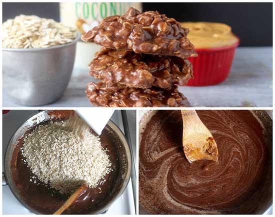 No-Bake Coconut Oil Cookies