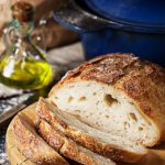 Simple Crusty Bread Recipe Baked In A Cast Iron Pot