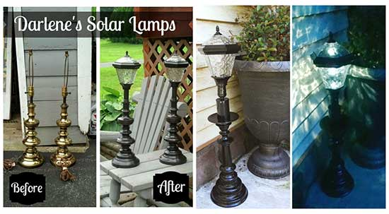 Outdoor Solar Lighting Made from Recycled Lamps