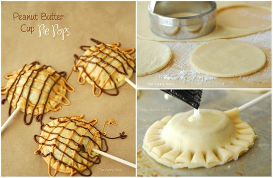 Peanut Butter Cup Pie Pops Recipe